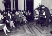 Concert by Marcelo at the Museu Imperial in which he used the Mathias Bostem spinet. Petrópolis - 1990