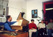 Marcelo at a lecture-recital at the Higher School of Music in Stuttgart - 2000